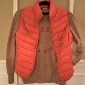 Red Forever 21 Puffer Vest Small